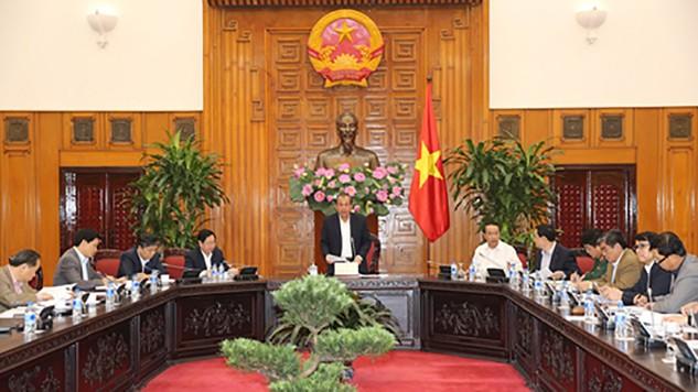 Phó Thủ tướng Thường trực Chính phủ Trương Hoà Bình chủ trì cuộc họp. Ảnh: VGP