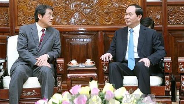 Chủ tịch nước Trần Đại Quang và Đại sứ Nhật Bản Kunio Umeda