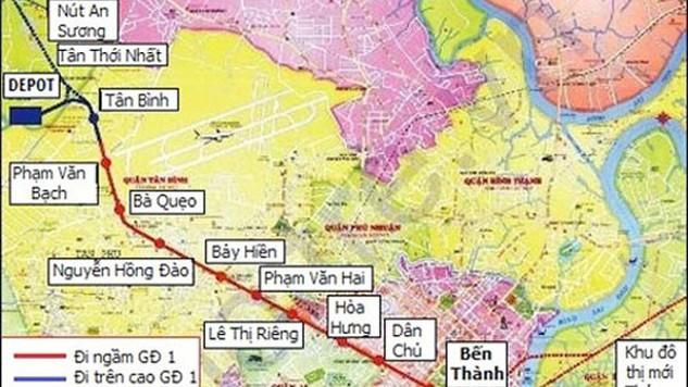 TP.HCM: Sắp mời thầu 3 gói lớn thuộc Tuyến metro số 2