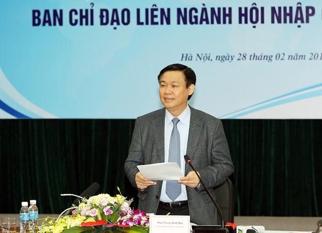 Phó Thủ tướng Vương Đình Huệ, Trưởng Ban Chỉ đạo phát biểu tại phiên họp.