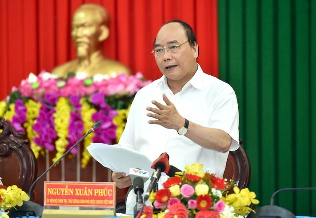 Thủ tướng cho rằng Trà Vinh có vị trí quan trọng ở vùng đất phía đông ĐBSCL và có nhiều tiềm năng phát triển kinh tế biển, nông nghiệp, thủy sản, công nghiệp, du lịch. Ảnh: VGP