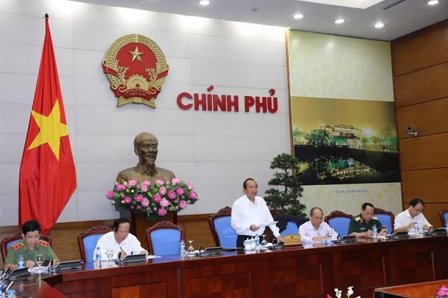 Phó Thủ tướng Thường trực Chính phủ Trương Hòa Bình phát biểu tại cuộc họp. Ảnh: VGP