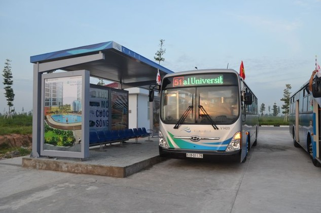 Xây dựng tuyến xe buýt nhanh Thành phố mới Bình Dương - Suối Tiên. Ảnh minh họa.