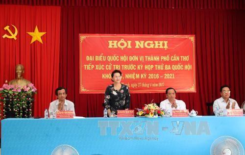 Chủ tịch Quốc hội Nguyễn Thị Kim Ngân phát biểu. Ảnh: TTXVN