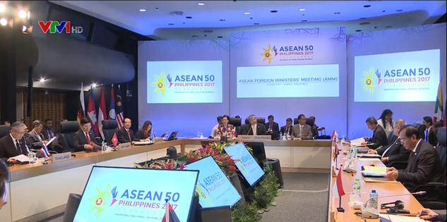 Quang cảnh Hội nghị Bộ trưởng Ngoại giao ASEAN sáng 28/4.