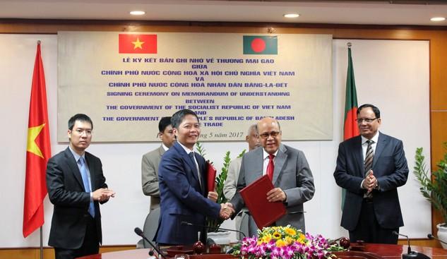 Gia hạn bản Ghi nhớ về thương mại gạo giữa Việt Nam và Bangladesh