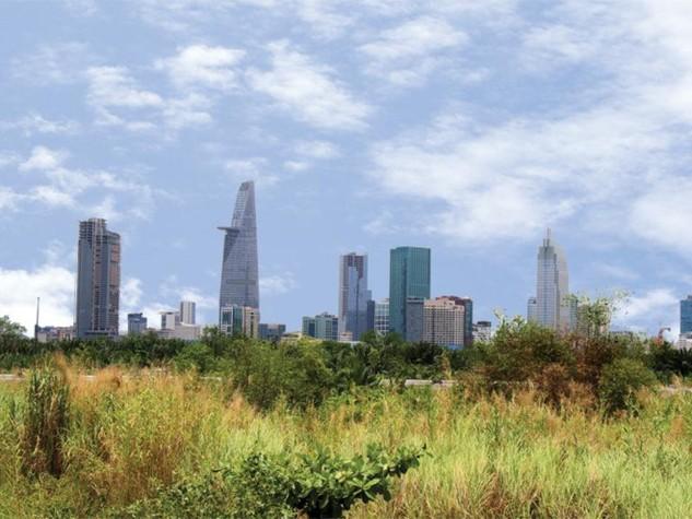 Khu đất dự kiến phát triển dự án chung cư của Công ty Đầu tư hạ tầng kỹ thuật TP.HCM tại Khu đô thị Thủ Thiêm (quận 2).