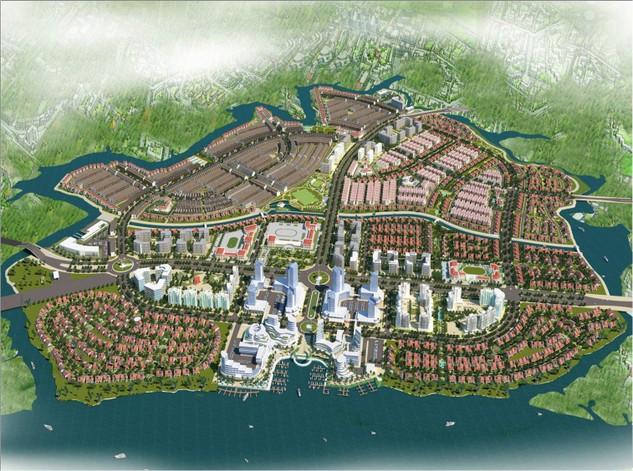 Phối cảnh tổng thể Khu Đô thị Kinh tế mở Long Hưng.