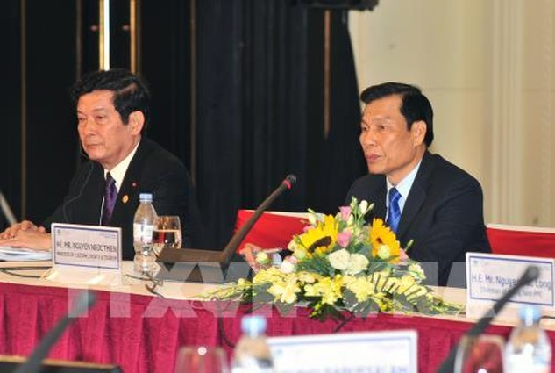 Bộ trưởng Bộ Văn hoá, Thể thao và Du lịch Việt Nam Nguyễn Ngọc Thiện đến dự và phát biểu. Ảnh: TTXVN