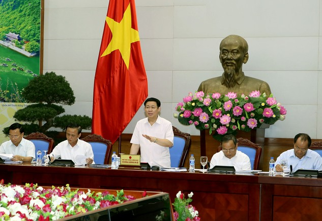 Phó Thủ tướng Vương Đình Huệ phát biểu tại Hội thảo. Ảnh: VGP