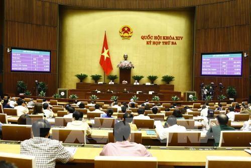Quốc hội biểu quyết quyết thông qua Luật trách nhiệm bồi thường của Nhà nước (sửa đổi). Ảnh: TTXVN
