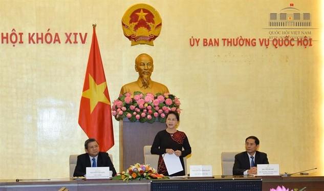 Chủ tịch Quốc hội Nguyễn Thị Kim Ngân phát biểu tại buổi tiếp. Ảnh: quochoi.vn
