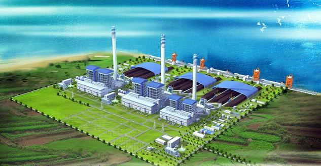 Phối cảnh ự án xây dựng Nhà máy Nhiệt điện Sông Hậu 1.