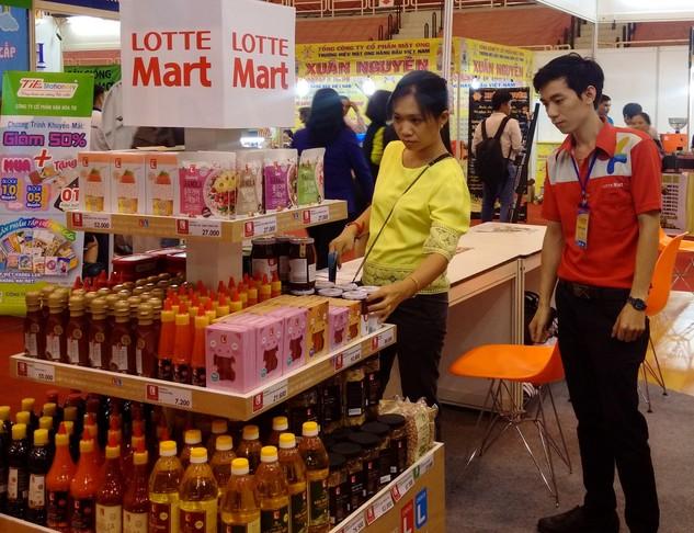 Nhiều sản phẩm Việt đã có mặt trong siêu thị của Lotte tại Việt Nam và nhiều nước khác. Ảnh: VGP