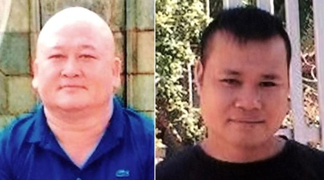 Hai trong số các đối tượng bị tạm giam cùng tang vật.