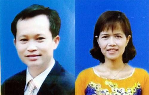 Vợ chồng Giang, Thùy tại cơ quan điều tra.
