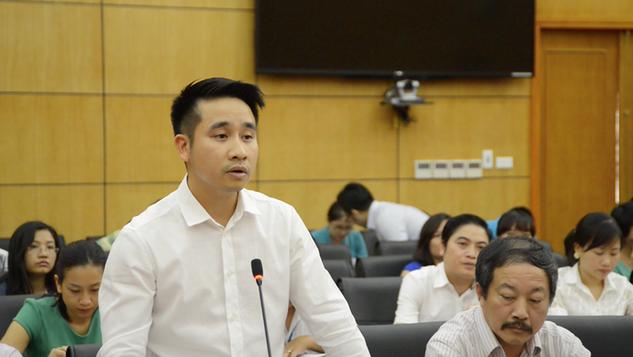 Ông Vũ Hùng Sơn khi là Giám đốc Trung tâm Thông tin Công nghiệp và Thương mại.