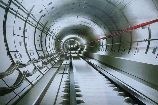 Mô hình Tuyến metro số 2 tại TP.HCM. Ảnh: LTT