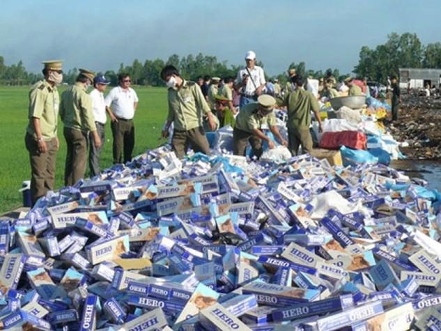Jet và Hero hiện chiếm trên 90% tổng khối lượng thuốc lá nhập lậu vào thị trường Việt Nam.