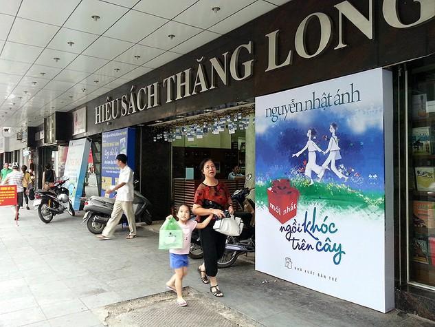 Hiệu sách Thăng Long số 5 Tràng Tiền - 1 trong nhiều vị trí kinh doanh đắc địa của Công ty TNHH MTV Sách và Thương mại Hà Nội. Ảnh: NC st