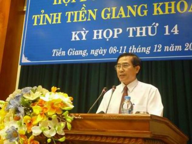 Ông Lê Văn Hưởng - Chủ tịch UBND tỉnh Tiền Giang