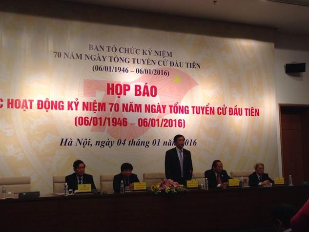 Nhiều hoạt động kỷ niệm 70 năm ngày Tổng tuyển cử đầu tiên diễn ra từ 4/1 - 6/1/2016. Ảnh: Trần Tuyết