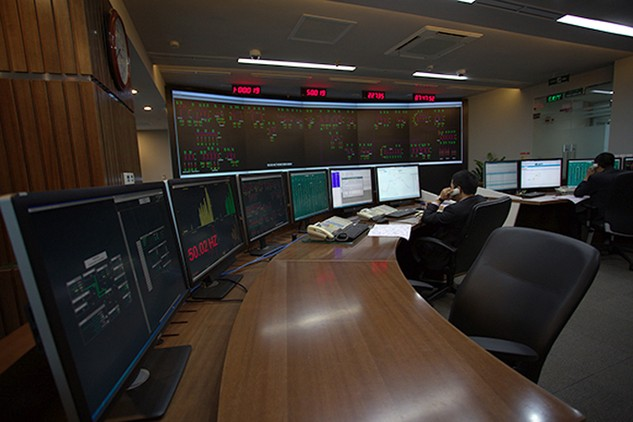 Bên trong Trung tâm Điều khiển hệ thống điện và thị trường điện mới. Ảnh: Hải Bình