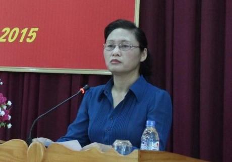 Bà Nguyễn Thị Lĩnh - Phó chủ tịch tỉnhThái Bình. Ảnh: Báo Thái Bình.