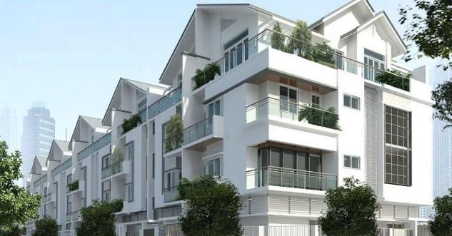 Phối cảnh các căn liền kề của FLC tại dự án Long Biên