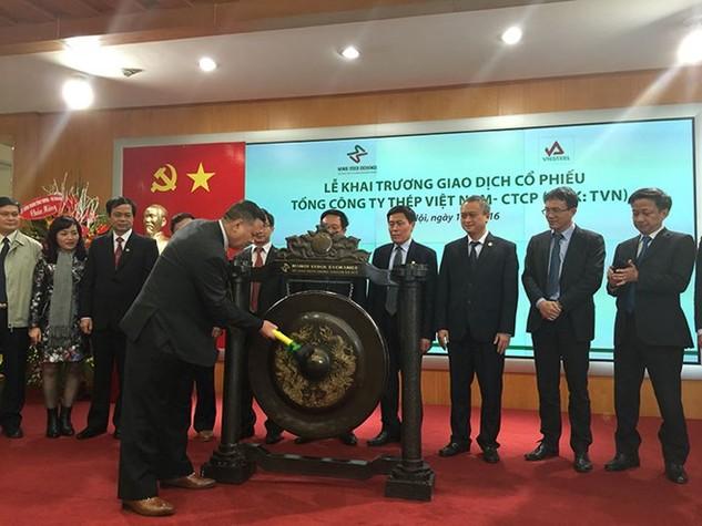 Cổ phiếu Tổng công ty Thép Việt Nam tăng mạnh trong phiên chào sàn UPCoM