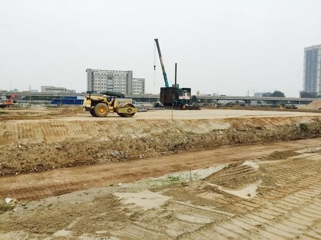 Khu vực chuẩn bị thi công – Dự án The Manor Central Park Hoàng Mai
