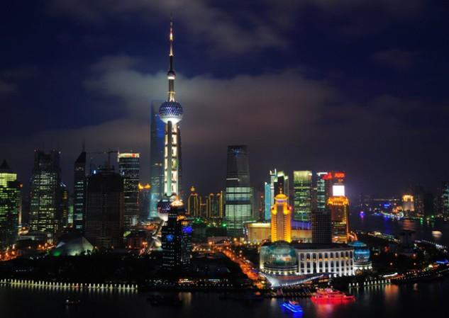 Hình ảnh thành phố Thượng Hải hào nhoáng về đêm