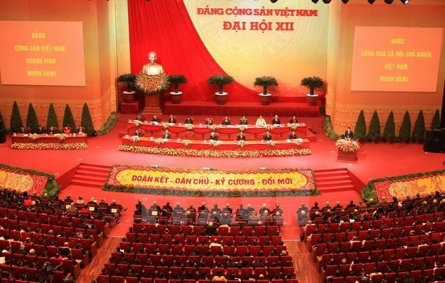 Toàn cảnh phiên khai mạc Đại hội Đảng toàn quốc lần thứ XII (sáng 21/1/2016)