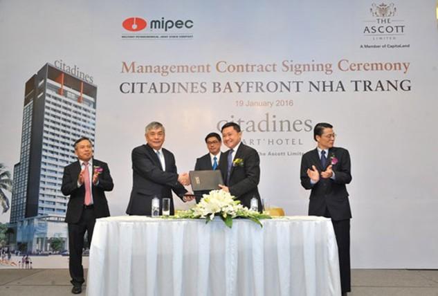 Trao hợp đồng quản lý tòa nhà Citadines Bayfront Nha Trang