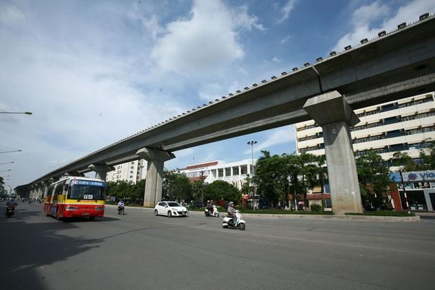 Dự án Tuyến đường sắt đô thị Hà Nội, tuyến Cát Linh - Hà Đông đã cơ bản hoàn thành. Ảnh: Nhã Chi