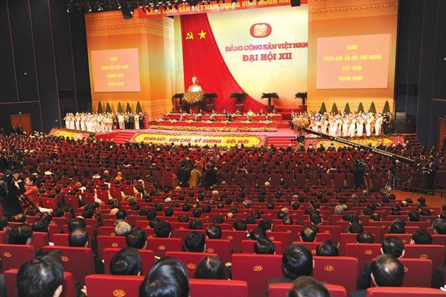 Đại hội lần thứ XII của Đảng là Đại hội đoàn kết - dân chủ - kỷ cương - đổi mới. Ảnh: Hoàng Liên