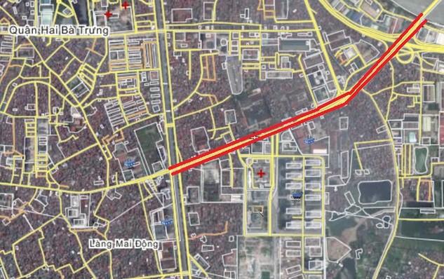 Giá đất đền bù dự án đường Vĩnh Tuy –Mai Động cao nhất hơn 83 triệu đồng/m2
