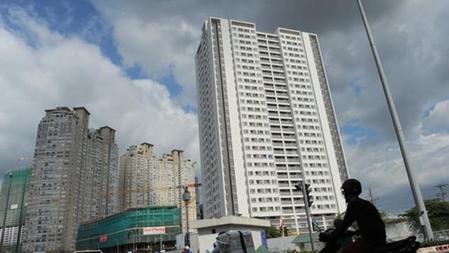 Dự kiến tới đây chung cư sẽ được xếp hạng A, B, C dựa trên nhiều tiêu chí. Trong ảnh: chung cư trên đường Nguyễn Hữu Cảnh, Q.Bình Thạnh, TP.HCM - Ảnh: Tự Trung