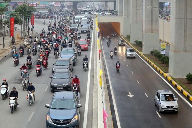 Hầm chui nút giao thông Thanh Xuân.