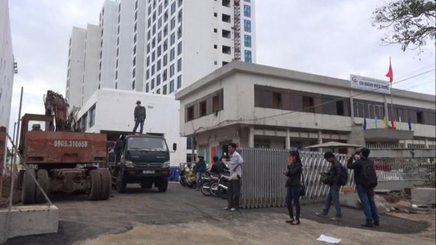 Tòa nhà nơi xảy ra tai nạn