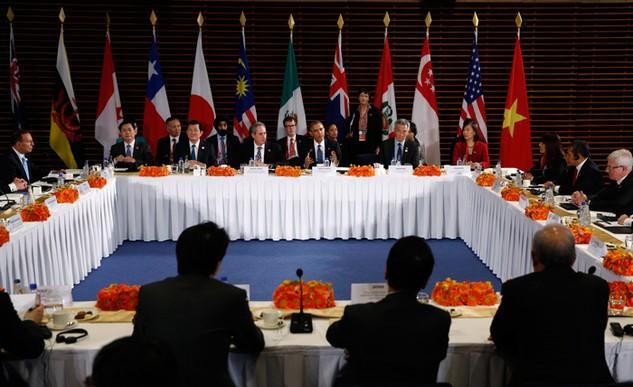 Các lãnh đạo trên bàn đàm phán Hiệp định TPP đầu tháng 10/2015