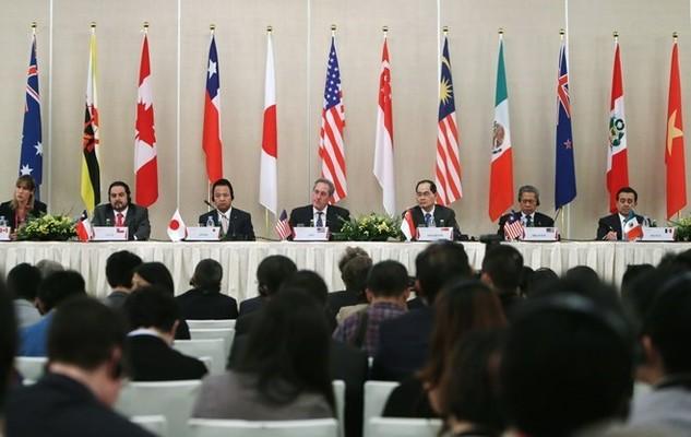 Đại diện 12 nước tham gia đàm phán TPP. (Nguồn: EPA)