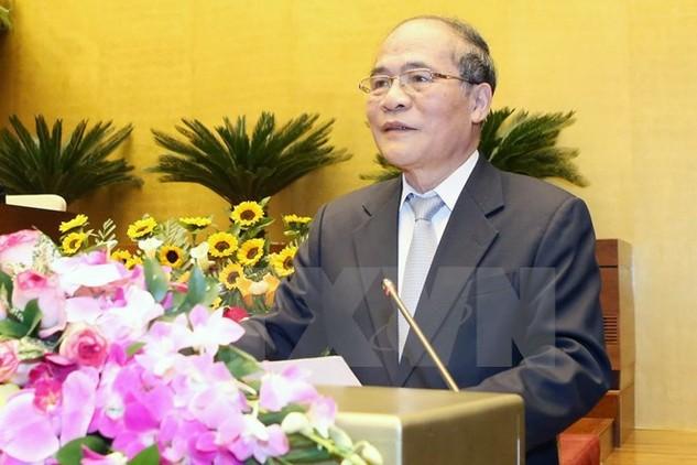 Chủ tịch Quốc hội Nguyễn Sinh Hùng. (Ảnh: Nhan Sáng/TTXVN)