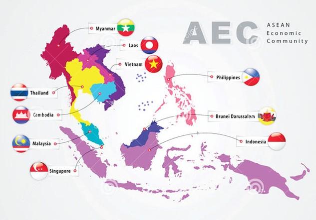 Hy vọng về sự thúc đẩy tăng trưởng kinh tế sau khi AEC được thành lập.