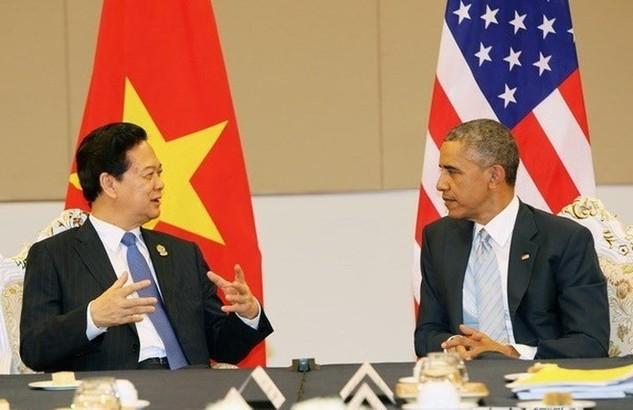 Thủ tướng Nguyễn Tấn Dũng là một trong mười nhà lãnh đạo ASEAN đã có cuộc gặp mặt với Tổng thống Mỹ trước thềm Hội nghị.