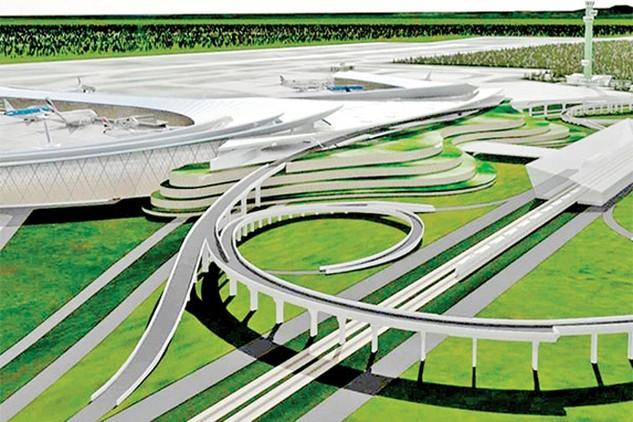 Mô hình nhà ga hành khách CHK quốc tế Long Thành