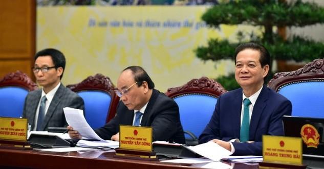 Thủ tướng Nguyễn Tấn Dũng chủ trì phiên họp Chính phủ tháng 2/2016. Ảnh: VGP