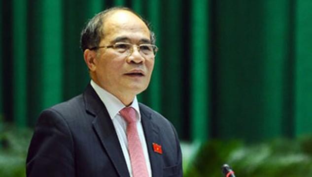 Chủ tịch Quốc hội Nguyễn Sinh Hùng. Ảnh: VOV.