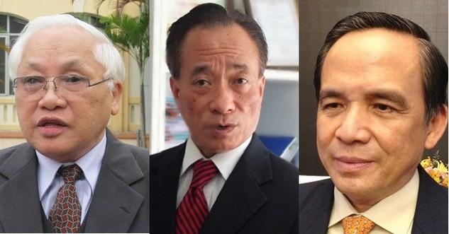 Từ trái qua: TS. Phạm Sỹ Liêm; Chuyên gia tài chính ngân hàng Nguyễn Trí Hiếu; Ông Lê Hoàng Châu.