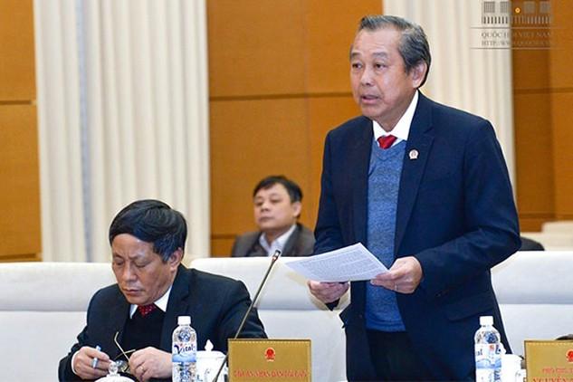Chánh án TAND Tối cao Trương Hòa Bình trình bày báo cáo tổng kết nhiệm kỳ
